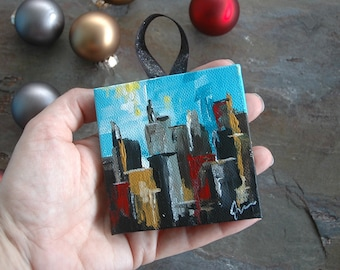 Mini Citi Canvas Ornamant