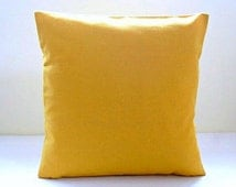 16 inch mustard cushion cover , solid accent decorative pillow cover 40 cm