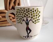 Tree of Life Mug tree pose yoga pose chakra mug