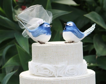 Bluebird Wedding Cake Topper Bride & Groom