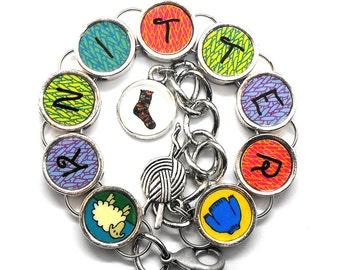Knitter Bracelet Knitting Yarn Themed Jewelry Adjustable Size