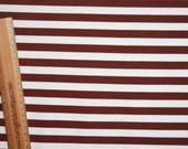 """Brown white stripes 1/2""""  1/2 yard knit cotton lycra"""