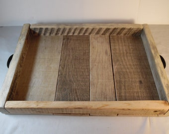 Serving Tray Reclaimed Wood Serving Tray Lodge Decor Bed & Breakfast Natural Wood Serving Tray