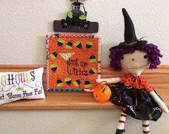 DRINK UP WITCHES Quilted Wall Hanging