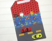 Car Wallet - Holds 5 of your childs favorite cars - Firetrucks