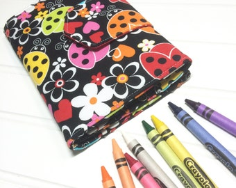 Crayon Wallet - READY TO SHIP Hip Trendy Travel -  Ladybugs