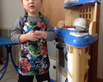 Reversible_ apron_Fantastic Four_Apron_toddler_Kids Arts and Crafts