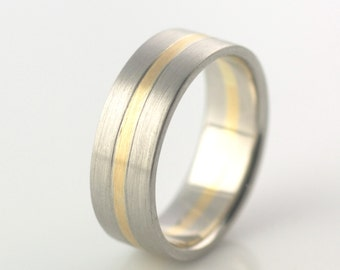 Palladium & 18k gold Wedding Band