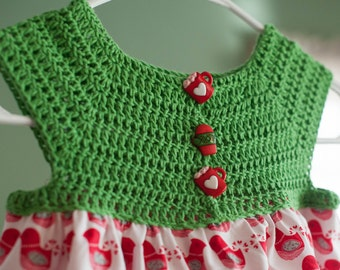 Crocheted dress, 3T