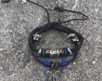 Adjustable Butterfly Beaded Bracelet