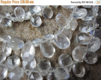 SALE Rainbow Moonstone Beads Briolettes, Pear Briolettes, 5mm x 7mm, June Birthstone, Loveofjewelry, Weddings, SKU 1533