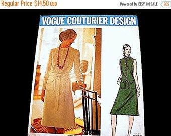 on SALE 1960s Vogue Couturier Pattern, 60s Dress Pattern Designer MIichael of London Misses size 12 Vintage Sewing Pattern