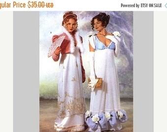 Sewing Pattern SALE Historical Regency Dress Pattern Butterick size 6 8 10 UNCUT Jane Austen Dress and Jacket Titanic Style Regency Era Empi