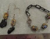 Boho Bead Chain and Sterling bracelet