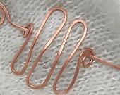 Copper Shawl Pin. Hair Closure. Barrette