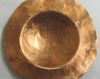 Copper Trinket Bowl. Jewelry Dish. Pure Copper Dish.