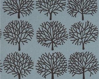 207323 blue Alexander Henry fabric black tree