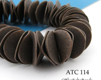 15mm Antique Copper Potato Chip Wavy Disk Beads Full Strand (ATC 114) 60 pcs BlueEchoBeads