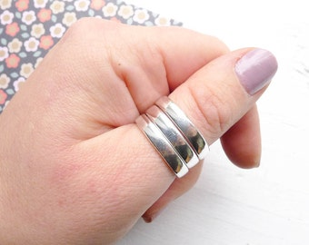 4mm Stamping Ring Size 10 Blanks in Sterling Silver for Handstamping (RHSR4210)