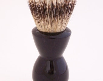 Gabon Ebony 24mm Super Silvertip Badger Hair Shaving Brush Handle (Handmade in USA) G1 - Anniversary Gift - Men's Gift - Executive Gift