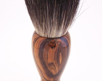 Bocote Wood 26mm Black Badger Hair Shaving Brush Handle (Handmade in USA) B2 - Wood Brush - Badger Brush - Shaving Brush - Shaving Kit
