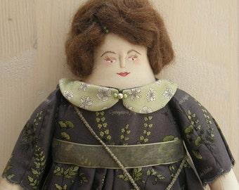 Ellen - A Folk Art Rag Doll
