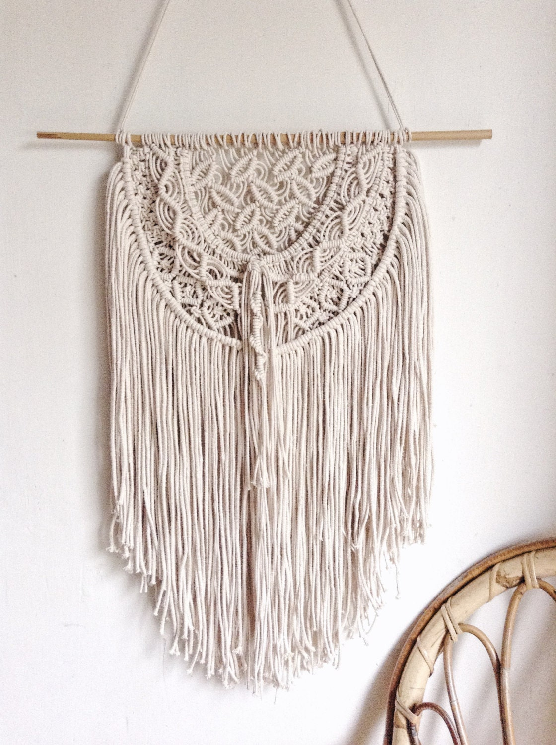Macrame wall hanging macrame wall decor wedding decor for Wall hanging
