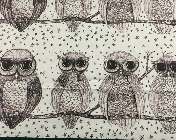 Original Owl Fabric by Cindy Watkins  cotton