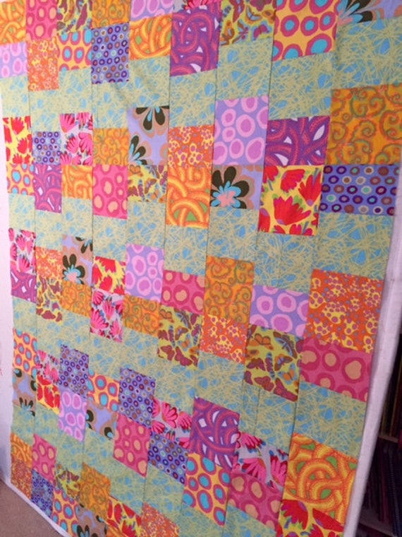 cloud nine 54x70 patchwork easy fast quilt top kit