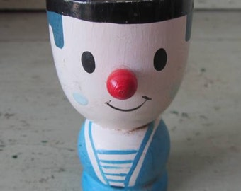 French Sailor Wooden Egg Cup