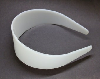25 White Plastic Headband Blanks - 50mm (2 inch)