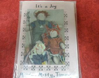 It's a Joy Rag  Doll Patterns Mindy Misty Timmy The Uptown Country Kids
