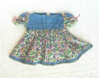 Lovely Handmade 1940s Smocked Doll Dress