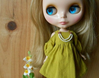Blythe mustard yellow dress
