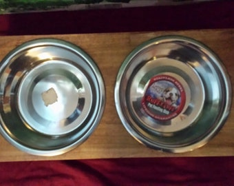 Raised Wooden Dog Feeder Bowl