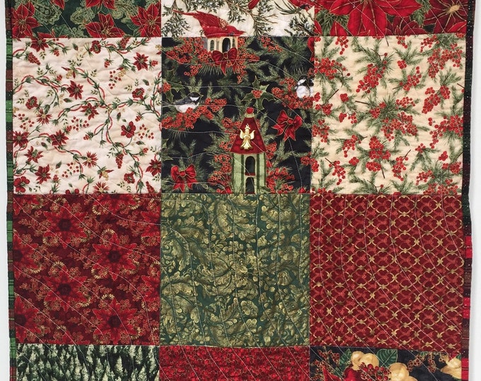 Watch Night 26x36 inch quilted Christmas Wallhanging