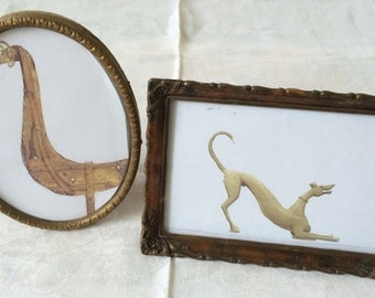 Two Frames, Celluloid, Brass, Vintage, Antique, Shabby Chic