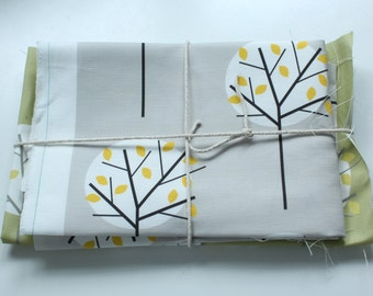 Fabric pack 2 - Moonlight Tree Olive Green and Grey