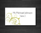 Printed Place Cards, 3.5x2 Wedding Place Cards, Escort Cards, Includes Guest Info