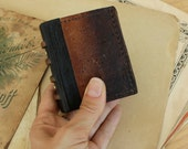 Very Worn Little Book / Leather Journal, Free Monogramming