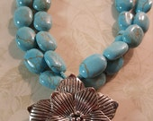 Magnesite and Silver Flower