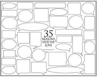Personalized Birthday Present – 35 Reasons We Love You – Template for Print or Editing – Photoshop Template – 35th Birthday