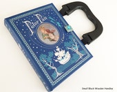 Peter Pan Book Purse - Wendy and The Lost Boys Handbag - Captain Hook Pirate Purse - Tinkerbell Recycled Book Cover Handbag