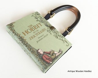 The Hobbit Book Purse - JRR Tolkien Book Cover Handbag - The Hobbit Book Clutch - LoTR Cosplay Costume - The Shire Pocketbook
