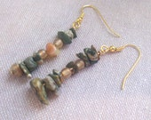 Math Jewelry - Pi Earrings - Rhyolite Carnelian Earrings - Math Teacher Nerd Geek Gift