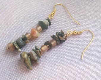 Math Jewelry - Pi Earrings - Rhyolite Carnelian Earrings - Math Teacher Nerd Geek Gift