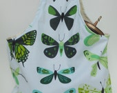 The Wanderer - Butterfly Collection - Wrist hanging reversible project / knitting / fiber bag