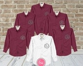 6 Bridesmaid oxford shirts, monogrammed oxford shirts, getting ready shirts, bridal party gifts , wedding day shirts ,