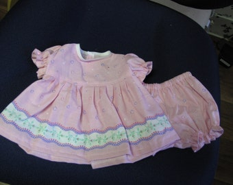 Pink  Dress and Panties for the Bitty Baby
