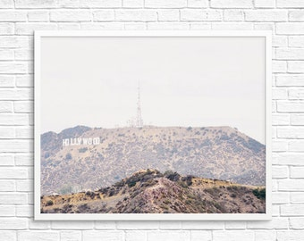 Buy 2 Get 1 Free - Hollywood Sign Photo, Hollywood Art, California Photo, Hollywood Print, Wall Decor, Brown, Landscape Photo - Hollywood
